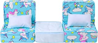 ZITA ELEMENT 5 Pcs American 18 Inch Girl Boy Doll Furniture Sofa with Pillow Set for American 18 Inch Doll Accessories My ...
