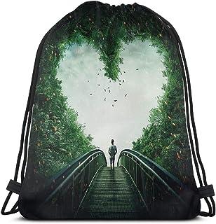 Lawenp Follow Your Heart Bolso con cordón Bolso de Hombro Mochila con Estampado Mochila de Viaje Bolsas de Gimnasio Mochila con cordón Ligero para Viajar Gimnasio Almacenamiento de Yoga Regalo