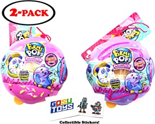 Pikmi Pops Surprise! DoughMis Donuts Small (2 Pack Assorted) with 2 GosuToys Stickers