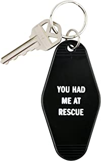 SNARK CITY You Had Me At Rescue Keychain in Black