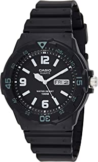 Casio Mens Quartz Watch, Analog Display and Resin Strap MRW-200H-1B