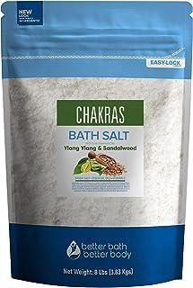 Sponsored Ad - Chakras Bath Salt 128 Ounces Epsom Salt with Natural Ylang Ylang, Sandalwood, Eucalyptus, Frankincense, Cha...