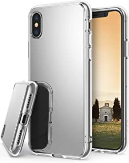 Ringke Mirror Designed for iPhone X Case, Bright Reflection Cover for iPhone X Case, iPhone 10 (Not Compatible with iPhone Xs) - Silver