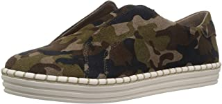 J Slides Women's Karla Sneaker, Green camo Suede, 6, 6.5, 7, 7.5, 8, 8.5, 9, 16 Medium US
