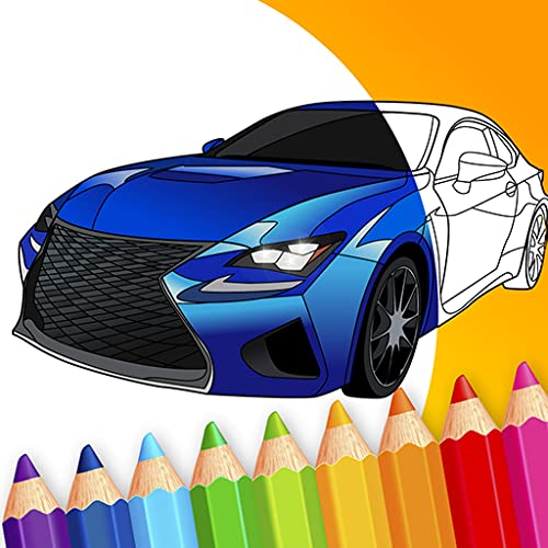 Japanese Luxury Cars Coloring Book