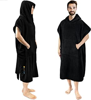 SUN CUBE Surf Poncho Changing Robe with Hood | Thick Quick Dry Microfiber Wetsuit Changing Towel for Surfing Beach Swim Ou...