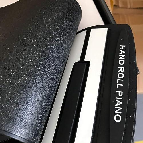 DEjasnyfall Multi Style Tragbare 88 Tasten Flexible Silikon Roll Up Piano Folding Elektronische Tastatur für Kinder Student (Schwarz+ Weiß)