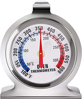 Jiobapiongxin Termometro per Carne in Acciaio Inossidabile Classico Stand Up Quadrante Forno Termometro Calibro Termometro per fornello JBP-X Grigio