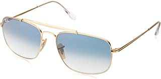 RAY-BAN RB3560 The Colonel Square Sunglasses, Gold/Blue Gradient, 58 mm
