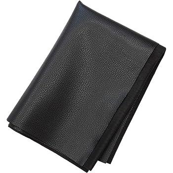 合皮 薄手 フェイクレザー 生地 138×50cm (ブラック) 9005-1