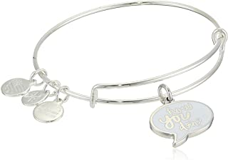 Alex and Ani Women's Friends How You Doing Charm Bangle, Shiny Silver