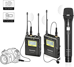 Wireless Microphone for Camera, Saramonic UHF Wireless Mic System with Bodypack Transmitter, Handheld Transmitter& Receiver Video Recording for Nikon,Canon, Sony, DSLR,DV Camcorder