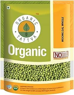 Organic Moong Dal Green Whole 4 Pounds, Whole Chhilka Moong Beans Green, USDA Organic - Organic Tattva