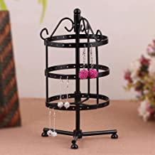 Metal Jewelry Organizer Hanger Display Stand, 3 Tier Earrings Holder Rack Home Wall Art Decor,Design for Earrings, Bracelets, Rings, Necklaces (3-Tiers)