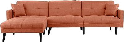 Amazon.com: Jennifer Taylor Home, Seccional sofá, terciopelo ...