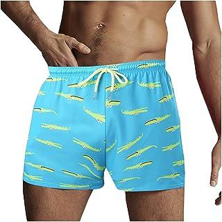 L9WEI Swimming trunks for men, printed swimming shorts, summer swimming trunks, board shorts, fashion beach shorts, traini...