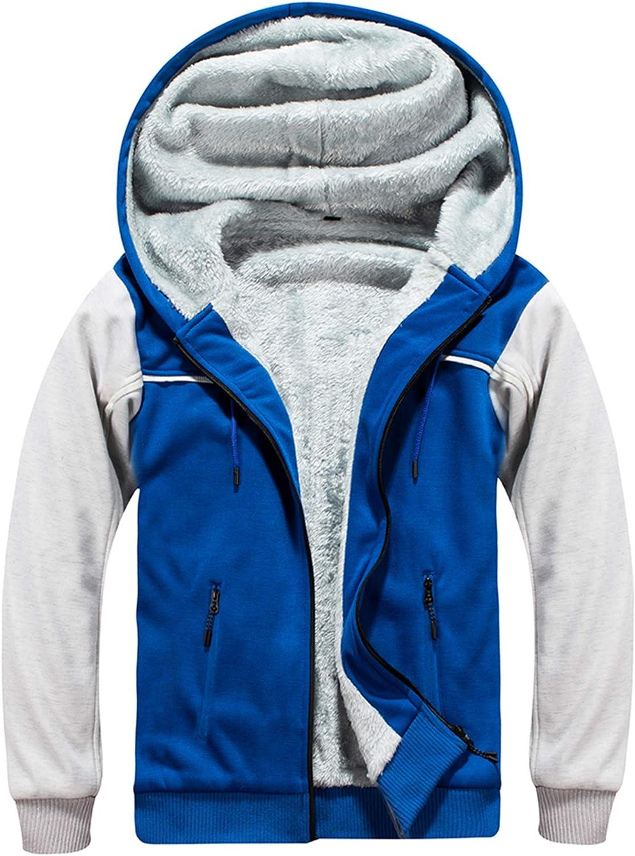 MANLUODANNI New Max 49% OFF mail order Men's Winter Zip Up Heavywe Hoodie Sweatshirt Fleece