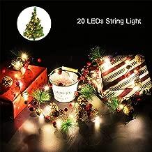 Outgeek Christmas String Light Creative Pinecone Bell Berries Decor Fairy String Light 20 LEDs String Light 6.56ft.