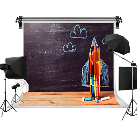 Kate 8x8ft Back to School Photography Backdrop Blackboard Portrait Background for Kids Photo Studio Props