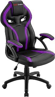 comprar comparacion Mars Gaming MGC118 Silla Gaming Ergonómica en PU y Nylon, Regulable, Morado, L