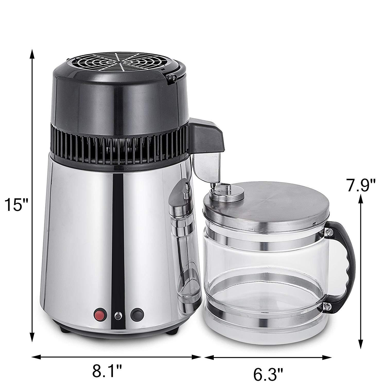 Destilador de Agua Pura 4L Acero Inoxidable destilación Agua ...