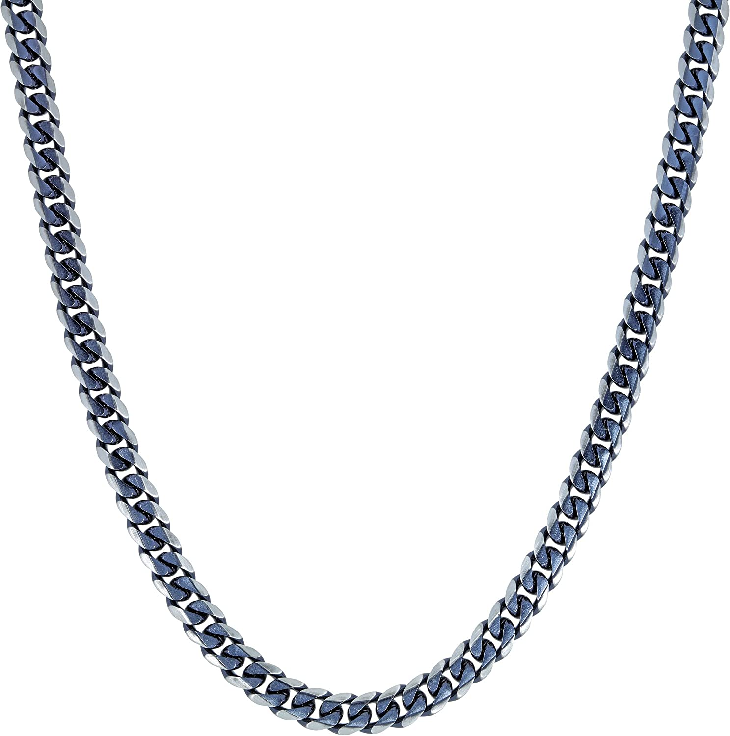 - Stainless It is very popular Steel Gray Ion Necklace Thick Plated Gourmette Import Chain
