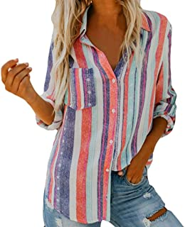 Women Striped Tops, Seaintheson Fashion Ladies Loose Long Sleeve Casual Blouses T Shirt Tank Tops