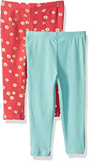 Flapdoodles Baby Girls 2 Pack Printed and Solid Legging