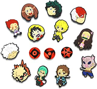15pcs Mixed Anime Shoe Charms with Wristband for Croc Shoes Bracelets PVC Decor Gifts Party Favor