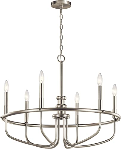 new arrival Kichler lowest 52304NI Capitol Hill Chandelier, new arrival 6-Light, Brushed Nickel online sale
