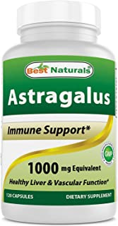 Best Naturals Astragalus Capsule, 1000 mg, 120 Count