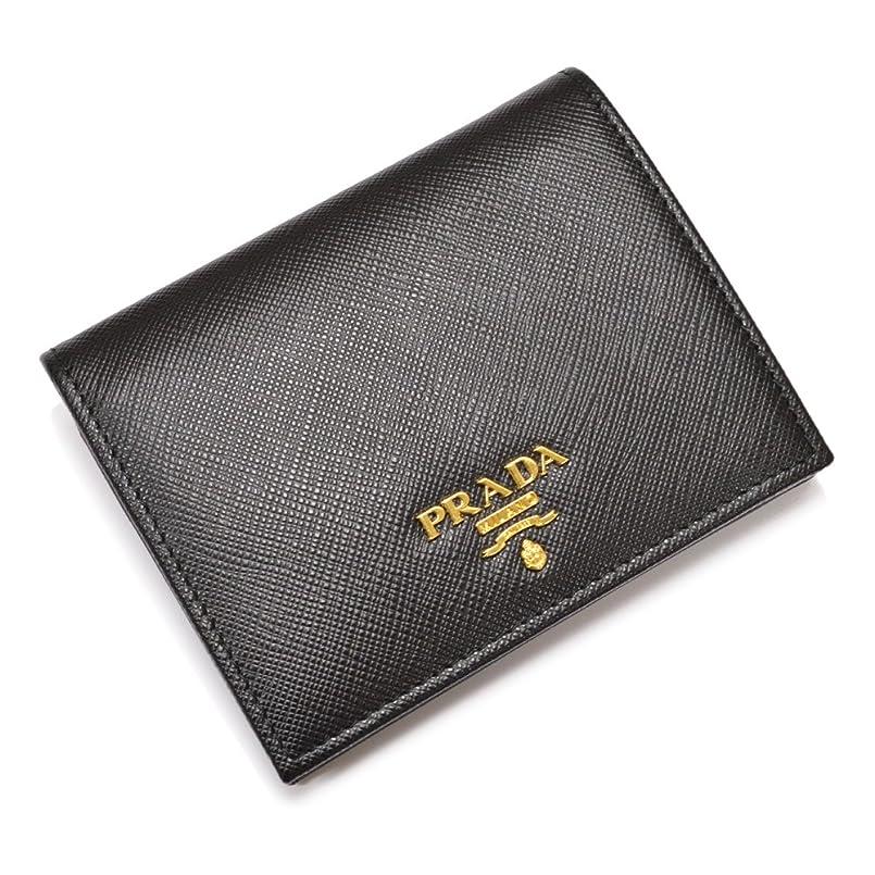 インカ帝国自動車平手打ちPRADA(プラダ)二つ折りミニ財布/itpd003(1MV204 QWA:ブラック)