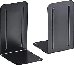 Acrimet Premium Metal Bookends (Heavy Duty) (Black Color) (1 Pair)