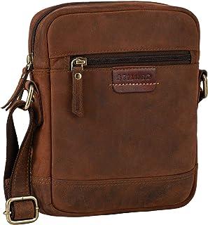 """STILORD """"Brian"""" Vintage Leder Tasche zum Umhängen Kleine Messenger Bag Schultertasche für 7.9 Zoll iPad Mini Moderne Herrentasche aus Echtleder, Farbe:Sepia - braun"""