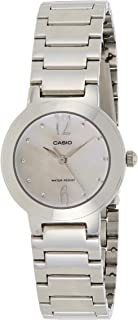 Casio Ladies Peach Mother of Pearl Dial Stainless Steel Band Watch [LTP-1191A-4A2], Analog