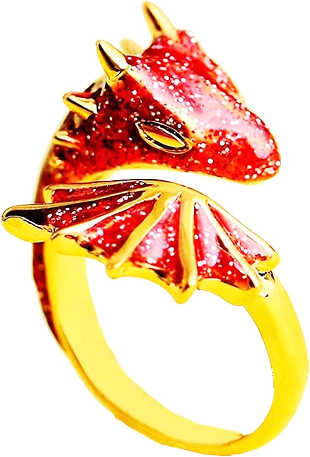 2021 Max 80% OFF New Gold Topaz Dragon Ring Lucky Fashionable Free-size Fingere Pet ad