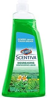 Clorox Scentiva Dish Soap in Fresh Brazilian Blossoms, 26 Ounces | Dishwashing Liquid Soap Refill | Cleaning Supplies