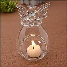 Candlesticks Angel Glass-Crystal Hanging Tea Light Candle Holder Home Decor Candlestick