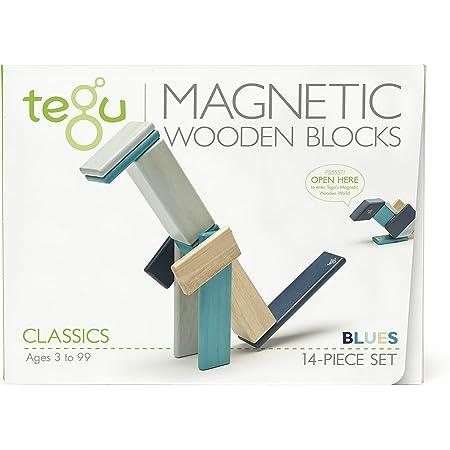 Tegu Magnetico Legno Blocchi Costruzioni 14 pezzi - I Blu