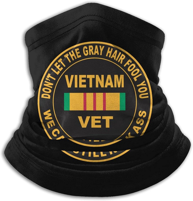 America vietnam veteran usa united states unisex winter neck gaiter face cover mask, windproof balaclava scarf for fishing, running & hiking