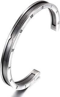 CIUNOFOR Cuff Bracelet Stainless Steel Bracelet for Women Girls Men Boys Couples