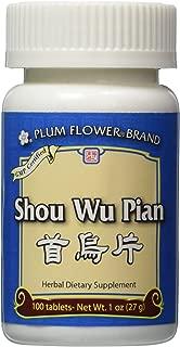Shou Wu Pian, 100 ct, Plum Flower