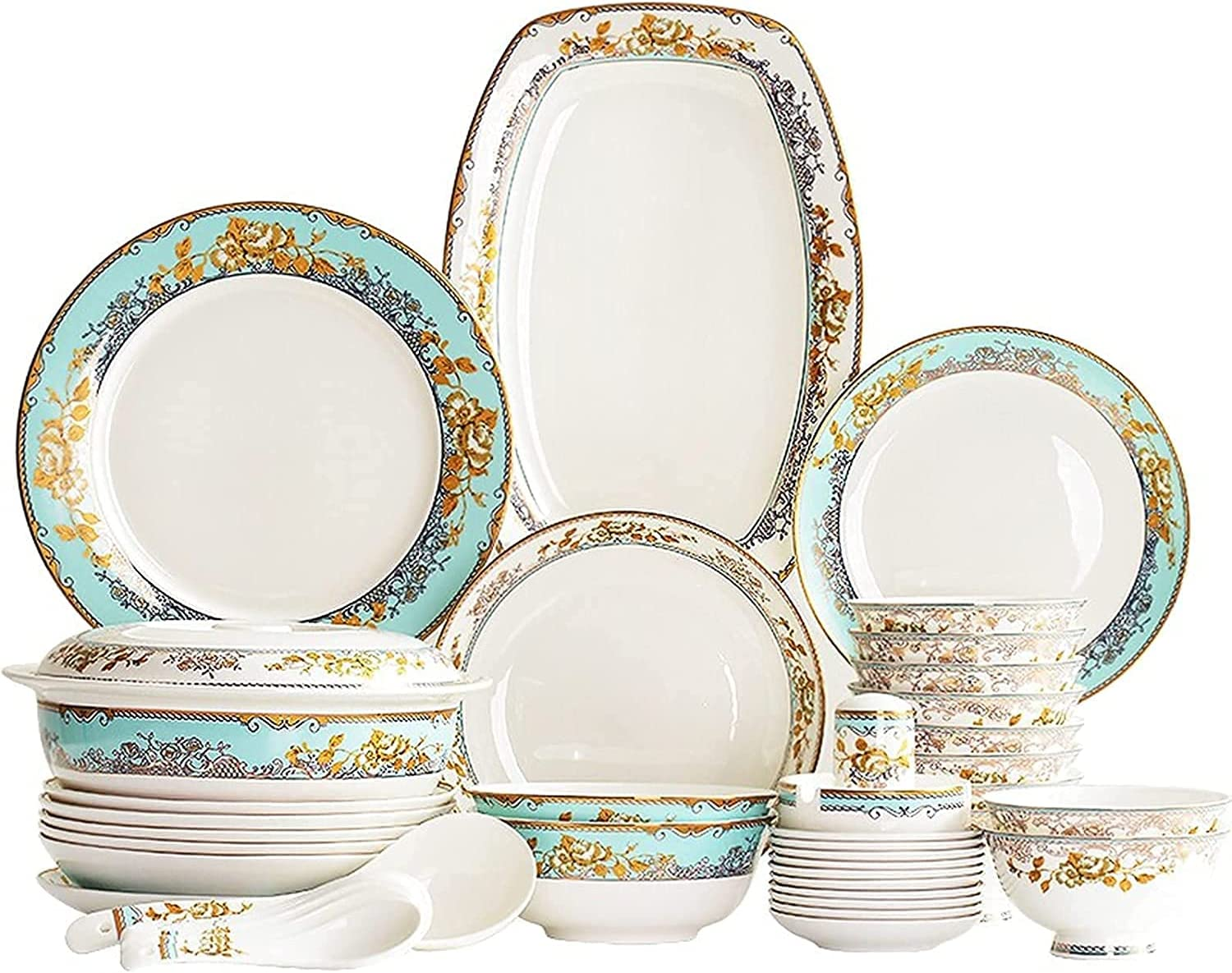 Dinnerware Set for Home or Modern Pieces Selling rankings Max 75% OFF Restaurant 56 Special