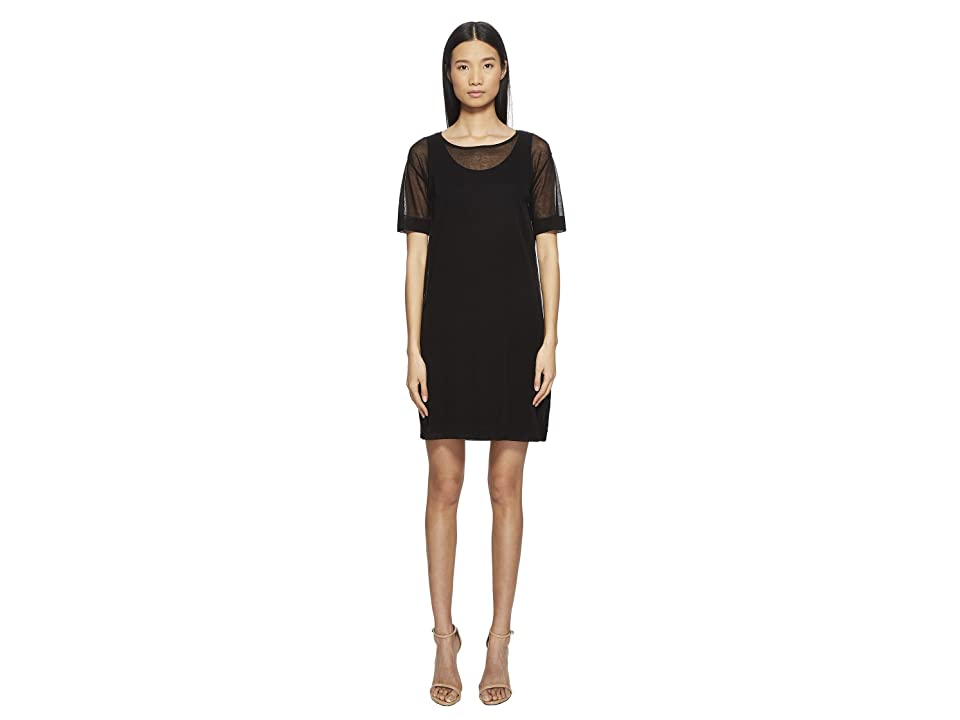 ESCADA Desheer Short Sleeve Dress (Black) Women