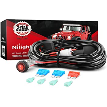 amazon.com: nilight led light bar wiring harness kit 12v on off switch  power relay blade fuse for off road lights led work light,2 years warranty:  automotive  amazon.com