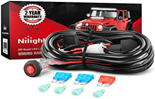 Best Nilight - NI-WA 02A LED Light Bar Wiring Harness Kit 12V On Off Switch Power Relay Blade Fuse for Off Road Lights LED Work Light,2 years Warranty Reviews