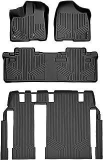 MAXLINER Floor Mats 3 Row Liner Set Black for 2013-2018 Toyota Sienna 8 Passenger Model