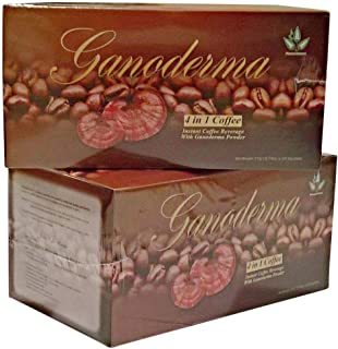 4 in 1 Café Healthy Coffee with Ganoderma - Creamer and Sugar (2 Packs)