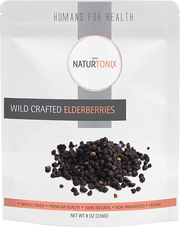 Naturtonix Luxury goods Dried Elderberries 100% Challenge the lowest price of Japan ☆ Natural Whole Wild C European