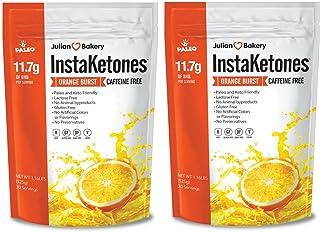Julian Bakery InstaKetones   11.7g BHB per Scoop   Caffeine Free   Orange Burst   Exogenous Ketones   2 Pack   60 Servings